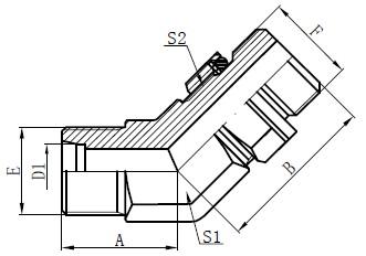 Adjustable Stud Fittings Drawing