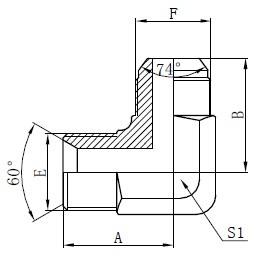 BSP Hydraulic Adapters Drawing
