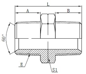 Hydraulic NPT Male Adapters Drawing