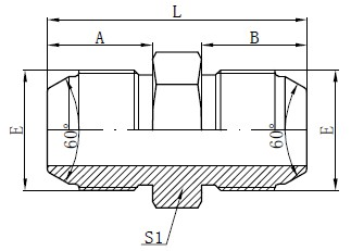 JIS Metric Male Adapters Drawing