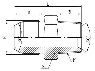JIS To NPT Adapter Drawing
