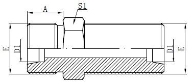 Metric Bulkhead Connectors Drawing