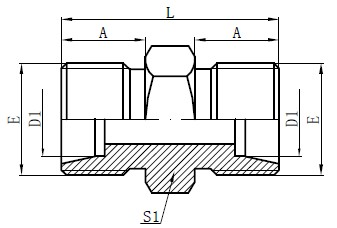 Metric Male Light Type Drawing