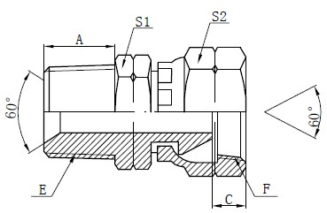 NPSM Adapter Fittings Drawing