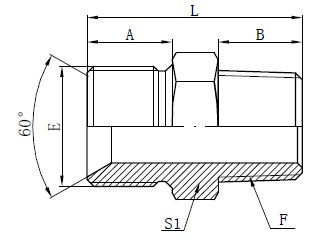 Straight Adaptor Drawing